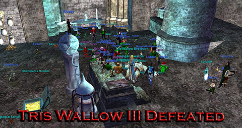 Tris Wallow III Defeated