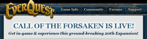 Call of the Forsaken is live!