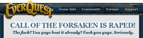 Call of the Forsaken is raped!