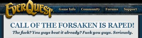 Call of the Forsaken is raped!